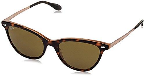 Ray-Ban RAYBAN Damen Sonnenbrille 4360 Top Havana On Light Brown/Darkbrown, 54