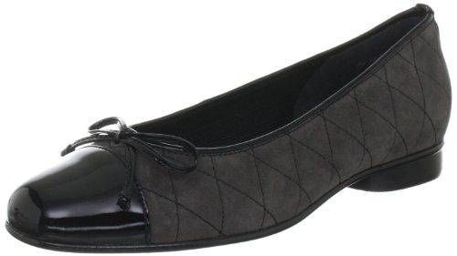 Gabor Shoes Damen Ballerinas, Grau (Zinn/schwarz), 35 EU - Zinn Ballerinas