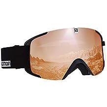 Salomon Xview Access Gafas de esquí Unisex, Condiciones climáticas Variables, Lente Naranja con Efecto