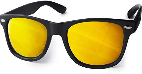 UVprotect Sonnenbrille retro Design Herren und Damen W100-Gelb