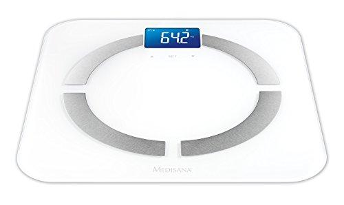 Medisana BS-430 Connect - Báscula digital de baño con análisis corporal y Bluetooth, color blanco, versión española