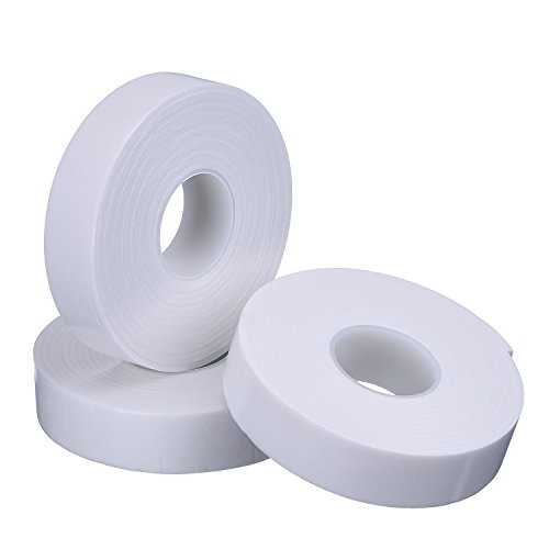 outus-3-rolls-1-inch-white-double-sided-foam-tape-for-automotive-industrial-home-and-office-118-inch