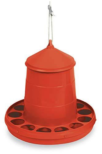 Desconocido Mangiatoia deposito Galline 2 kg, Colore: Rosso
