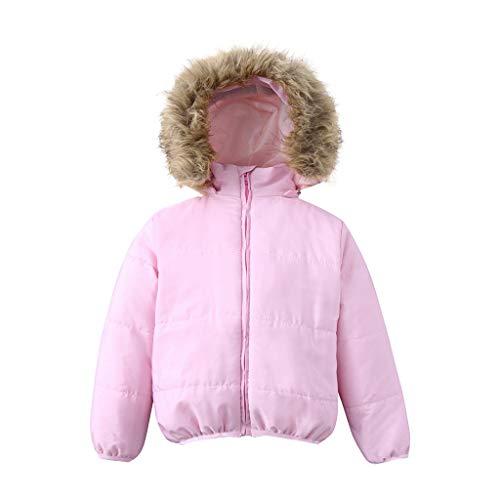Hawkimin_Babybekleidung Hawkimin Jungen Mädchen Warmer mit Kapuze Winterjacke-Mantel Oberbekleidung