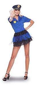 Folat 21933Sexy Disfraz de policía Uniforme de la Mujer (2Piezas, Talla L/XL)