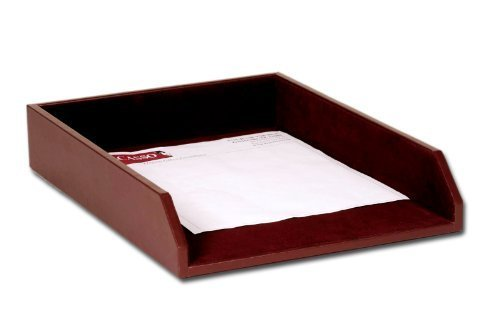 Dacasso Chocolate Brown Leather Letter Tray, Legal Size by Dacasso (Tray Letter Legal)