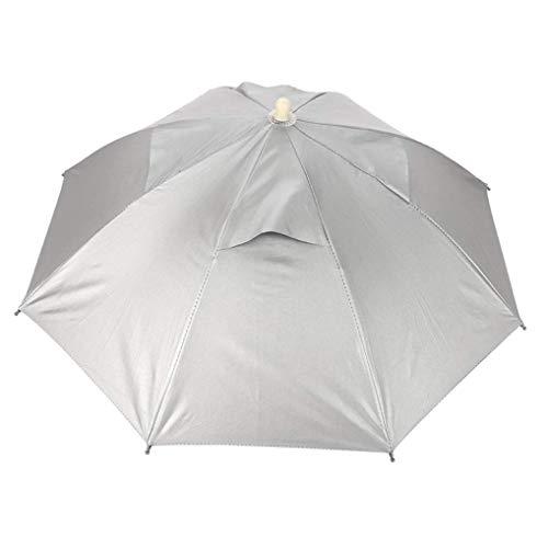 Hut, faltender Headwear-justierbarer wasserdichter UVschutz Headwear-Regenschirm für das Strand-Fischen, das kampierenden Golf im Garten arbeitet ()