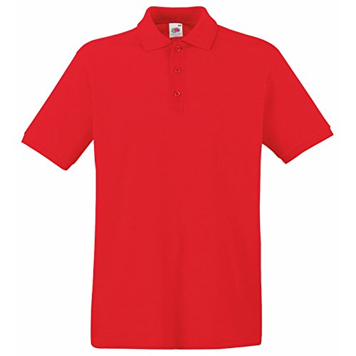 Fruit Of The Loom Herren Pique Polo Shirt SS5 Premium Rot - Rot