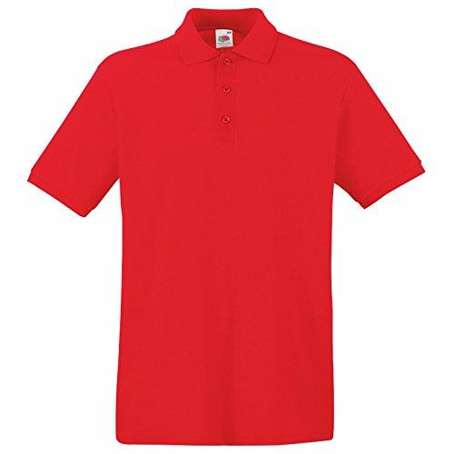 Fruit Of The Loom Herren Pique Polo Shirt SS5 Premium Rot - Rot