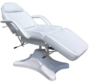 White Hydraulic Beauty Couch Massage Chair Bed Therapy for sale  Delivered anywhere in UK