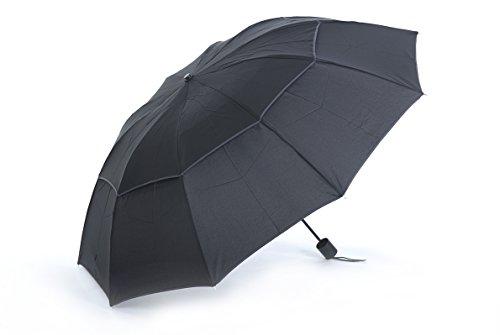 Honeystore Regenschirm 3-Falten Taschenschirm Wasserdicht Sonnnenschirm Schwarz