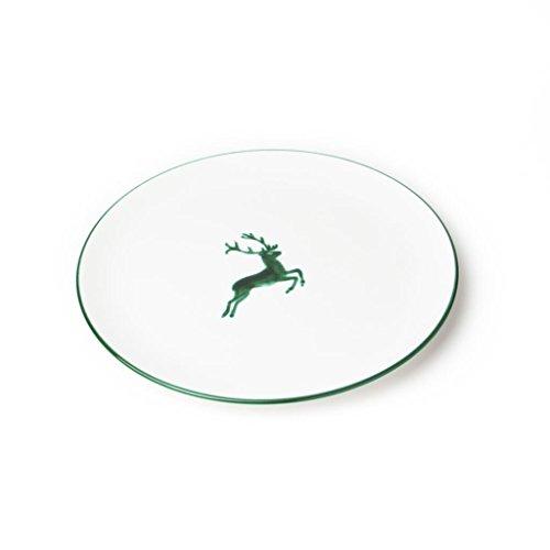 GMUNDNER KERAMIK Speiseteller Cup   Durchmesser : 28 cm   grüner Hirsch   Geschirr, handgemacht in Österreich
