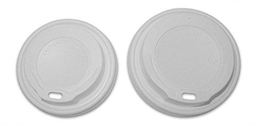 Cup Sip Deckel zu passen 8oz oder 12oz-16oz Papier Kaffeetassen-Sleeve von 100-Einweg SIP Deckel Small To Fit 8oz Cups weiß ()