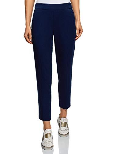oodji Ultra Donna Pantaloni Stretti con Elastico Blu IT 44 / EU 40 / M