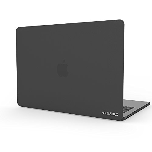 MoArmouz Silicone Hard Case Shell Cover for MacBook Pro 13 Inch with/without Touch Bar and ID (Grey)