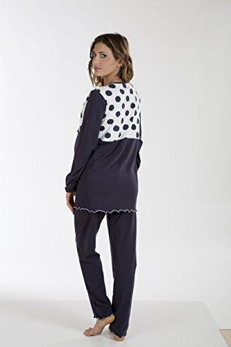 Premamy - Damen Stillpyjama - Farbe: Blau Blau