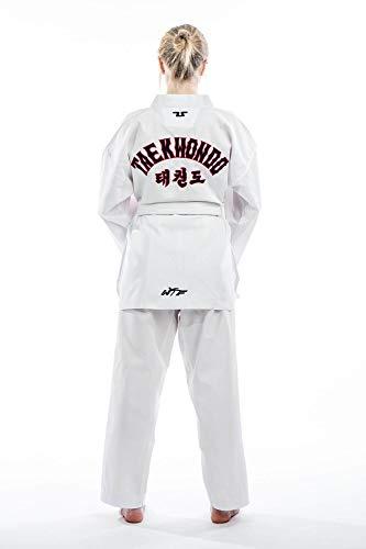 Tusah 'Traje de Taekwondo Starter–TKD Dobok–Parte Superior con inscripción Taekwondo–Deportes de Lucha Traje por el World Vendaje Taekwondo Aprobado