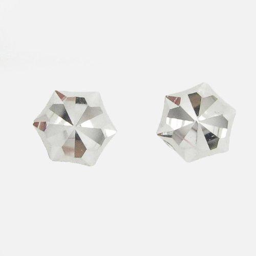 icedtime-earrings BE34Orecchini a perno italiana, Oro bianco 14K cerchio