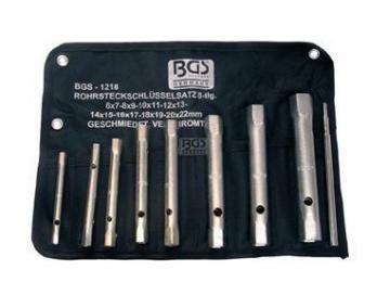 BGS Rohrsteckschlüsselsatz, 6 x 7-20 x 22 mm, 8-teilig, 1218