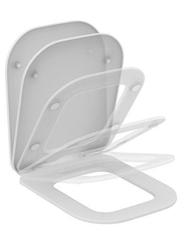 Preisvergleich Produktbild Ideal Standard Tonic II WC-Sitz mit Deckel, Softclosing, Scharnier abnehmbar, weiss, K706501