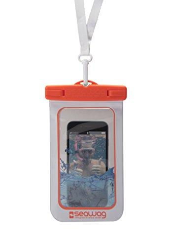 """Seawag 5,7"""" wasserdichte Handyhülle, Smartphone Tasche, white/orange"""