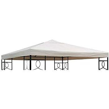 Universal Ersatz Dach Pavillon 3x3 Meter Farbe Grau PVC Wasserdicht beschichtet