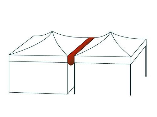 TOOLPORT 3 m Lange Verbindungsrinne Regenrinne Verbindung für Faltpavillons Pavillon Marktstand Faltzelt Premium und Professional, Polyester mit PVC-Beschichtung wasserdicht in weiß