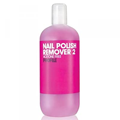 Salon System Profile Pink Nail Polish Remover 2 Acetone Free For Sculpted and Artificial Nails 500ml
