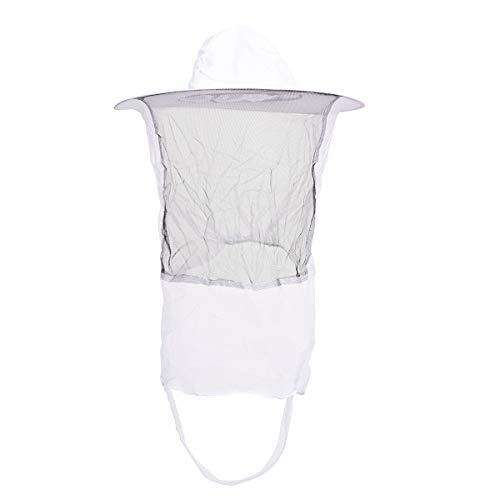 Yardwe Herramientas de Apicultura Anti Mosquitos Abeja Sombrero de Red Apicultor Velo Protector Equipos de Apicultura (Blanco)