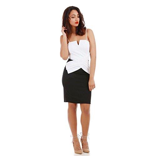 La Modeuse - Robe moulante style bustier en V Blanc