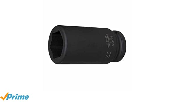 Bahco K8906Z-1 IRK8906Z-1.1//16 Long Deep Socket 1 1//16-Inch Black