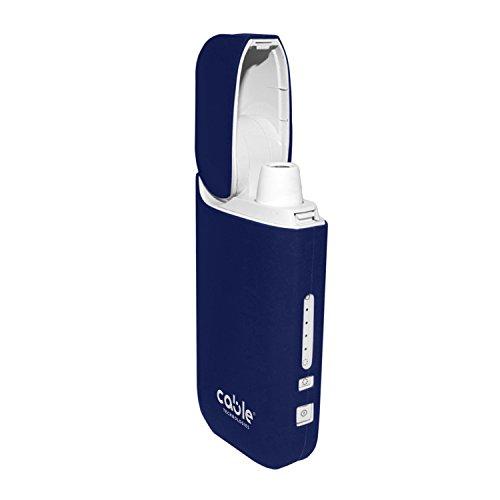 Cable Technologies Soft case für IQOS 2.4/2.4 Plus Pocket Charger, weiche Schutzhülle für Soft Touch Silikon-Ladegerät, Abdeckung (Blue Navy)