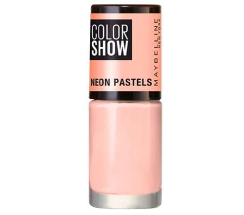 Maybelline MAY VAO C.SHOW NEON PASTEL NU 484 Acid Naranja Crema esmalte de uñas – Esmaltes de uñas (Naranja, Acid Nude…