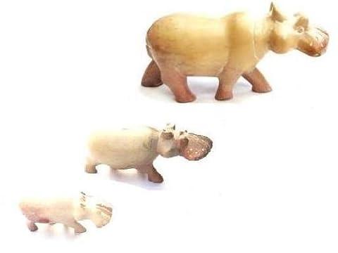 Katangi Handcrafts Handmade Soapstone Hippo