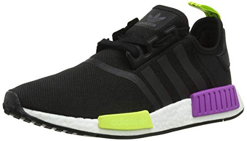 adidas Herren NMD_r1 Derbys, Schwarz Core Black/Shock Purple, 44 EU
