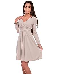 FUTURO FASHION Classique   Sensible Femmes Robe Col V Manches Longues  Empire 8467 627e81a2fccb