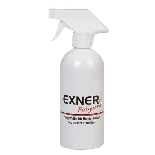 Exner Petguard | Pflegemittel für Haustiere | 500 ml | DAS Pflegemittel bei Parasitenbefall, Räude, Milben oder Pilzbefall | natürliche Wirkstoffe | Biologisch | Gesundheitsfördernd