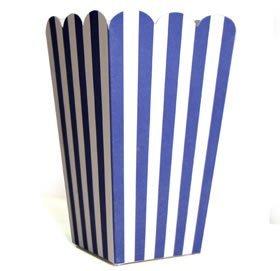 """10 Fröhliche Blau Weiße Popcorn-Schachteln aus der Serie """"Colored Carnival"""" (Kostüme Aus Der Schachtel)"""