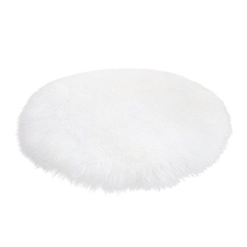3 Handgefertigte Wolle Teppiche (LILICAT Teppich Fernsehdecke Sofadecke Faux Lammfell Schaffell Teppich Weich Decke Künstlich Schaffell Teppich Stuhlbezug Künstliche Wolle Warm Behaart Sofa Matte Bettvorleger (30*30CM, Weiß))