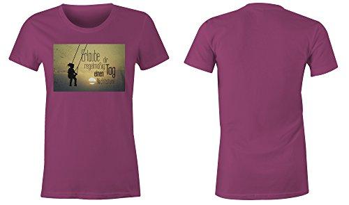 Erlaube Dir Regelmaessig Einen Tag Nichtstun 5 ★ Rundhals-T-Shirt Frauen-Damen ★ hochwertig bedruckt mit lustigem Spruch ★ Die perfekte Geschenk-Idee (07) pink