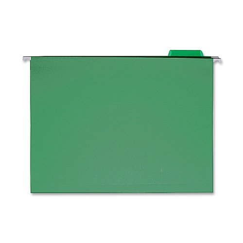 Sparco Hanging Folder, 1/5 Tab Cut, Letter, 25 per Box, Bright Green (SPRSP5215BGR)