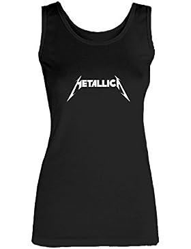 Social Crazy Canotta Donna Cotone Basic Super Vestibilità Top Qualità - Metallica - Novità VIP Humor Divertenti...
