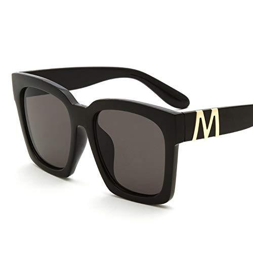 LKVNHP Hohe Qualität 153Mm Übergroße Sonnenbrille Frauen Männer Polarisierte Platz Breites Gesicht Sonnenbrille Für Mann Männlich Schwarz SilberSchwarz