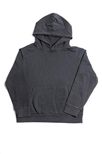 BasicLine Hooded Sweatshirt (Heavyweight Pigment-Dyed Cotton) (Dark Shadow, Small) Hooded Terry Pullover