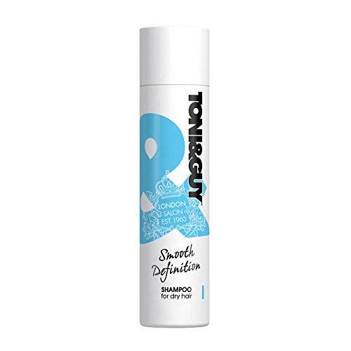 Toni&Guy Smooth Definition Shampoo I Pflege-Shampoo für trockenes Haar I Reparierendes Haar-Shampoo für alle Haar-Farben & Haar-Typen I Haar-Pflege-Shampoo für geschädigtes & sprödes Haar I 250 ml