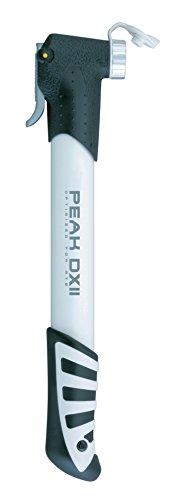 TOPEAK Peak DX II Luftpumpe Aluminium 6 Bar Fahrrad Luftpumpe SmartHead T-Griff Handpumpe, 15700026, Farbe silber