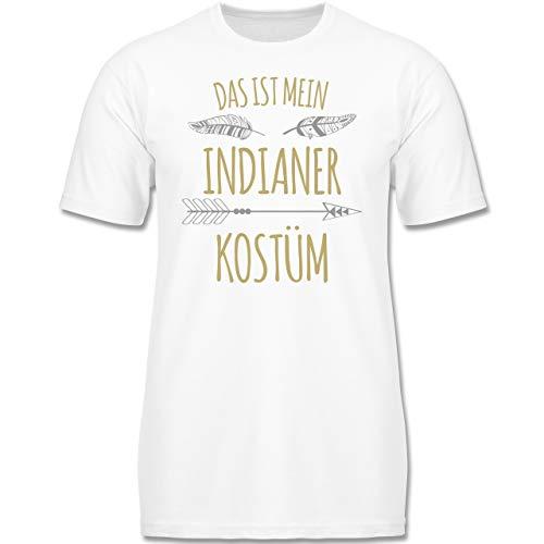 Kind Indian Boy Kostüm - Karneval & Fasching Kinder - Das ist Mein Indianer Kostüm - 164 (14-15 Jahre) - Weiß - F130K - Jungen Kinder T-Shirt