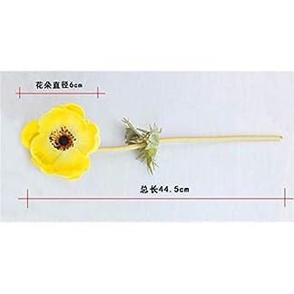 WEC Flores decorativas artificiales Una sola rama Amapola Simulación de flores Amapolas Sensación de flor artificial Los productos de flores florales incluyen: Flores artificiales, Plantas artificial