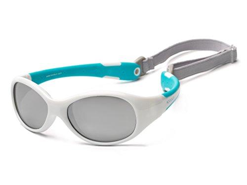Koolsun FLWA003 Flex  Kinder Sonnenbrille, 3+ (3-6 Jahre), weiß
