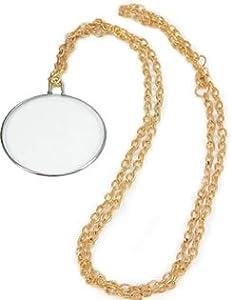 Gents Monocle on Gold Chain (accesorio de disfraz)